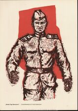 GOOD MORNING, COMRADES *  RARE EAST GERMAN DDR POSTER gdr army military soldier