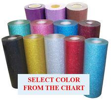 5rolls Pack 20x3ft Heat Transfer Vinyl Glitter37color Option For Cutterpress
