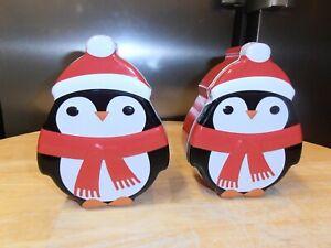 2 Cute Christmas penguin Gift Tins