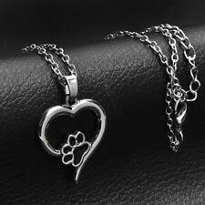 Unique Heart Paw Print Necklace ANIMAL RESCUE DONATION