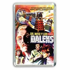 PETER CUSHING DOCTOR WHO and the DALEKS '  JUMBO COLOUR Fridge / Locker Magnet
