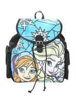 Disney Loungefly Frozen Princess Anna Elsa Stained Glass Slouch Backpack NEW NWT