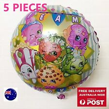 5x Girl Child Shopkins Birthday Party Foil Balloons Supplier Hanging decor 18inc