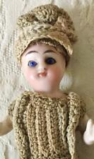 Antique All Bisque 4 Inch Doll German/ French Mignonette Peg Jointed Tiny Doll