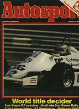 AUTOSPORT OTT 15th 1981 * Rally San Remo & Bathurst 1000