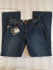 Ladies DC Shoes Vital Jeans Standard 5 Pkt Low Rise Slight Flair Leg Blue 7 NWT