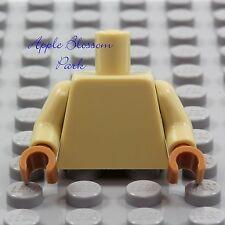 NEW Lego Girl/Boy Minifig Plain TAN TORSO Blank Body Upper Med Dark Flesh Hands