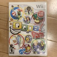 Oops Prank Party (Nintendo Wii, 2010) Complete CIB Manual FAST SHIPPED