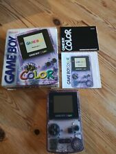 Nintendo Original Game Boy Color Clear Purple with box and instructions ex con