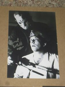 Actor TED WHITE Signed 4x6 Photo Friday the 13th JASON AUTOGRAPH
