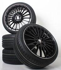 NEU für VW T-ROC A1 19 Zoll Alufelgen Schwarz Poliert Winterkompletträder AX5