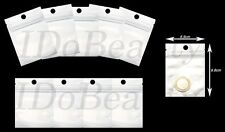 10 Small Pearl White Polythene Grip Seal Bags OPP Product Bag Resealable 7x10cm
