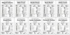 Statis Pro Baseball Cards - PDF Format - Any MLB Season
