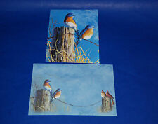"""#63025 BLUEBIRDS 5"""" X 7"""" BLANK GREETING CARDS & ENVELOPES PACK OF FOUR"""