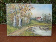 Antigua pintura en la lona firmado MICHAT decoración de casa, naturaleza