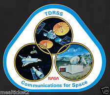 "TDRSS TRACKING & DATA RELAY - NASA COMMUNICATIONS FOR SPACE 5"" SATELLITE STICKER"