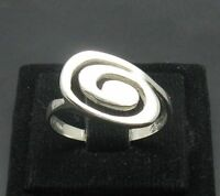 STYLISH STERLING SILVER RING SOLID 925 SPIRAL SIZE H-Z R000924