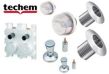 KOMPLETT-SET Wasserzähler -Unterputz Montageblock TECHEM DOUBLE
