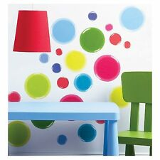 Wallies Wall Art 3D Dots Colorful Peel & Stick Wall Decals