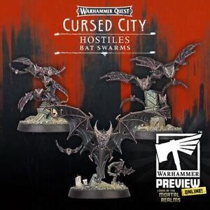 3 x Hostile Bat Swarms 'B' - Warhammer Quest: Cursed City & Age of Sigmar, new