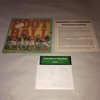 UNTESTED Touchdown Football COMPLETE Commodore 64/128 Game Vintage C64 Disk CIB
