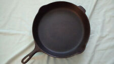 Unmarked Wagner no 12 cast iron skillet pan restored double spout made in usa