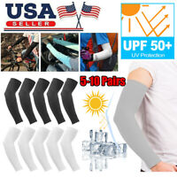 10Pairs Cooling Arm Sleeves Outdoor Sport Basketball UV Sun Protection Arm Cover