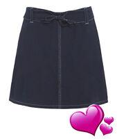 NEW Womens Denim Cotton Skirt Short Mini A Line Skirts Ladies Size 10 12 14