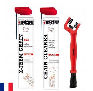 IPONE Pack brosse + dégraissant + graisse de chaîne  Road Chain Care - moto