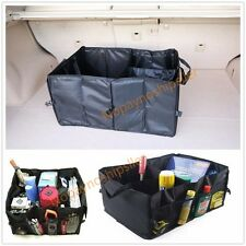 Portable Collapsible Folding Flat Trunk Auto Organizer for Car SUV Truck Van BLK