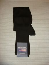NWT BRESCIANI SEA ISLAND COTTON DARK BROWN MEN SOCKS MADE IN ITALY