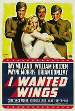 I WANTED WINGS Movie POSTER 27x40 B Ray Milland William Holden Wayne Morris
