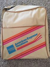 "Vintage American Express Vacations Tan Travel Bag, 13""x14""x5.5"""