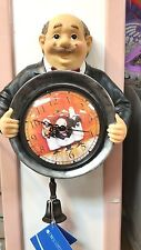 "10"" high butler wall clock by DWK corp"