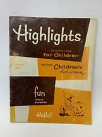 1973 Vintage Highlights Childrens Magazine October Halloween