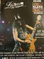 Guns N' Roses, Slash, Low Brow Art Company, Full Page Vintage Promotional Ad, N