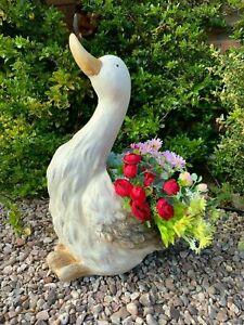 52cm Goose Duck Planter Ornament Plant Pot Lawn Patio Garden Bird Sculpture Home