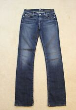 7 For All Mankind Medium Dark Wash Straight Leg Slim Jeans Size 25 Red Label