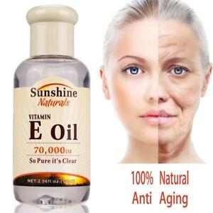 100% Natural Vitamin E Oil Serum Anti Aging Wrinkle Moisturizing Whitening Cream