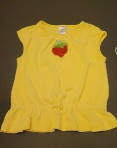 Gymboree VTG Sz 4 Strawberry Farm Shirt and Pony-O's Hair Tie Lot  Set
