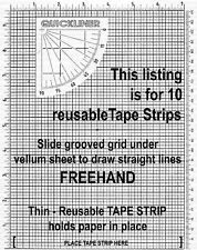 10 Double sided Tape Strips one side high tack other low tack stick and release