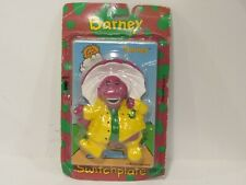 vtg 1993 plastic Barney light switchplate cover In the Rain drop mip