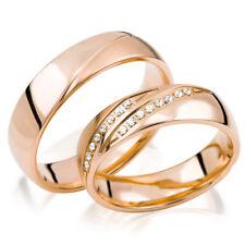 Trauringe Gold 333 B: 5,5mm - H: 1,7mm poliert/längsmattiert - Brillanten 0,16ct