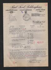 GEVELSBERG, Brief 1939, Paul Ferd. Peddinghaus Schraubstock-Fabrik