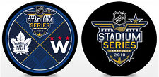 2018 NHL Stadium Series 2 Puck Combo Toronto Maple Leafs vs Washington Capitals