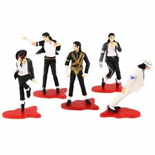 "5pcs 4"" KING OF POP MICHAEL JACKSON FIGURES POSE FIGURINES SET DOLL STATUE LOOSE"