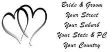 48 LARGE PERSONALISED WEDDING INVITATION RETURN ADDRESS LABEL STICKERS 2 HEARTS