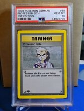 PSA 10 1999 POKEMON 1ST ED. GERMAN BASE SET PROFESSOR EICH (OAK) #88 NON-HOLO