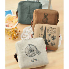 Nuevo Mujer Vintage Lona Torre Cloth Monedero Tarjeta Llave Moneda Bag Funda