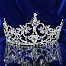 "DIADEME CRISTAL ""SEDUCTION"" Bijou de Mariée Miss wedding pageant tiara silver"